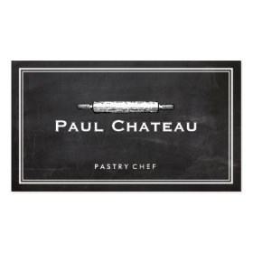 Bakery Pastry Chef Rolling Pin Baker Logo Business Card