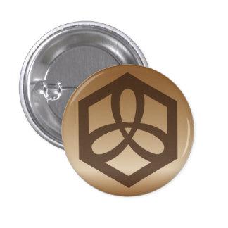 玄 military affairs - GENBU emblem 1 Inch Round Button