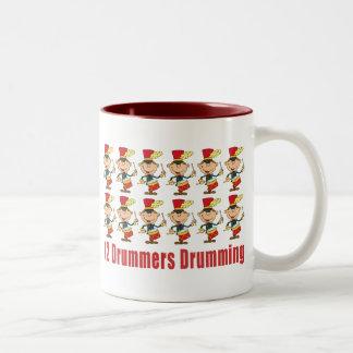 12 Drummers Drumming Mugs