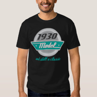 1930 Birth Year Birthday Vintage Model Mens Tshirt