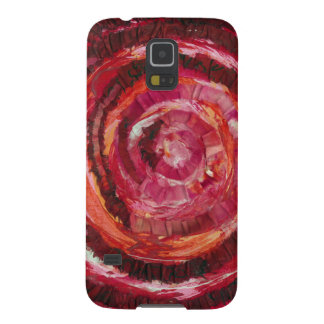 1st-Root Chakra Red Spiral Fabric-Paint #2 Galaxy S5 Cover