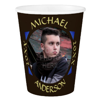 2016 Graduation Party Modern Custom Photo Paper Cup