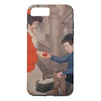 2 kids sharing an apple iPhone 7 plus case