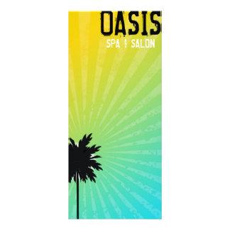 311 Oasis Palm Tree Gift Certifcate   Blue Custom Rack Cards