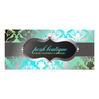 311 Zeopard Sign & Damask Shimmer Paradise Lime Custom Rack Cards