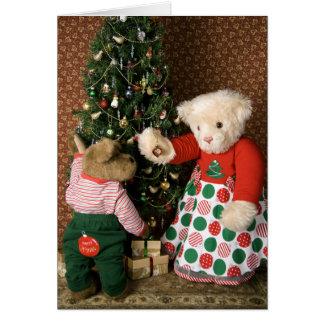 3834 Teddy Bears Christmas Greeting Card