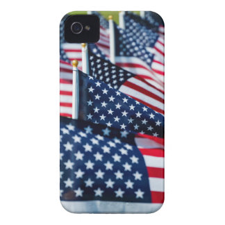 400 flags waving proudly in a field Case-Mate iPhone 4 cases