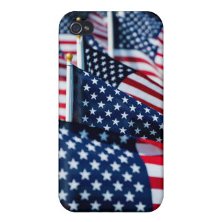 400 flags waving proudly in a field cases for iPhone 4