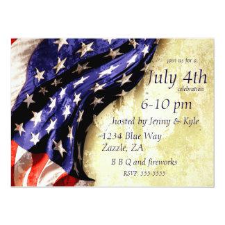 4 juillet invitations affligées de partie de