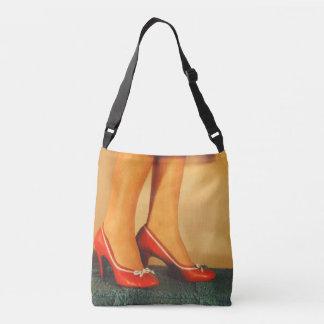 50s Red High Heels Tote Bag