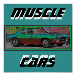 70s Muscle Car Poster