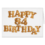 84th Birthday card for a cookie lover