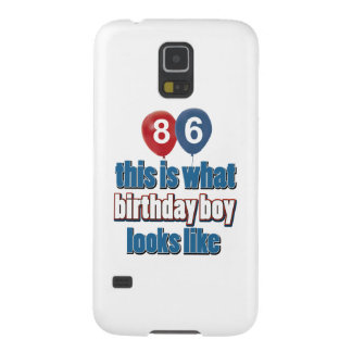 86th year birthday designs cases for galaxy s5