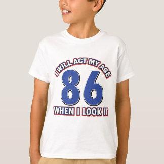 86th year birthday designs shirt