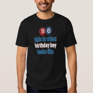 86th year birthday designs tees