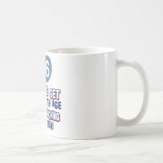 86th year old birthday designs classic white coffee mug
