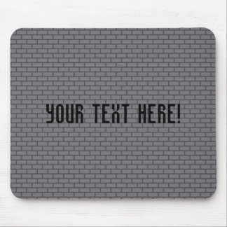 8-Bit Retro Brick, Grey Mouse Pad