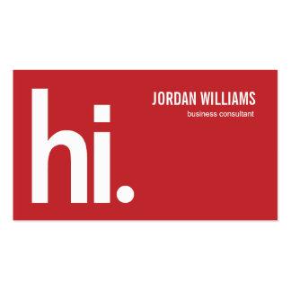 A Powerful Hi - Modern Business Card - Red