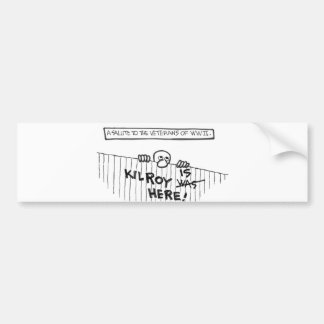 A Salute to Veterans of WWII (Kilroy) Bumper Sticker