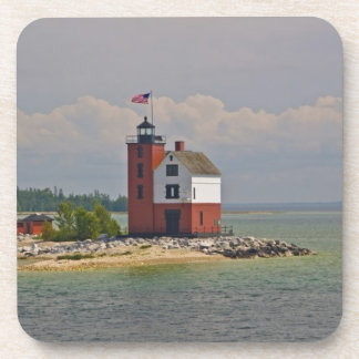 A view of Round Island Light Station. Beverage Coasters