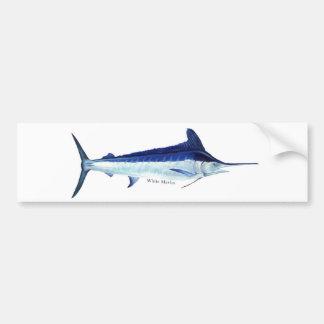A white marlin bumper sticker