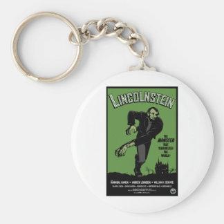 Abe Lincolnstein. the monster that terrorized... Basic Round Button Keychain