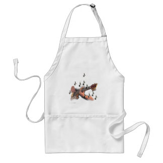 Abstract art, Guitar player, music and instrument Standard Apron