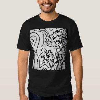 "Abstract Black/White ""Lightning"" T-Shirt"" Tshirt"