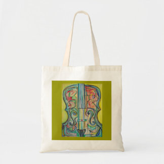 Abstract Cello Tote Budget Tote Bag
