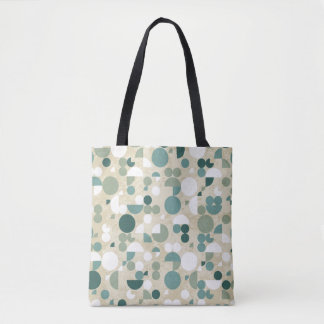 Abstract retro pattern tote bag