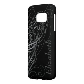 Abstract Swirls with Area for Name Samsung Galaxy S7 Case