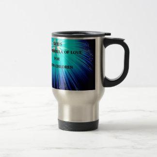 abstract umbrella religious design 15 oz stainless steel travel mug