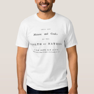Adam Smith's Wealth of Nations Tshirt