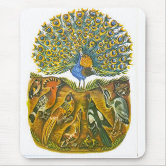 Aesop's fables, the peacock and the birds mouse pad