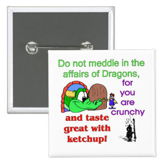 Affairs Of Dragons 2 Inch Square Button