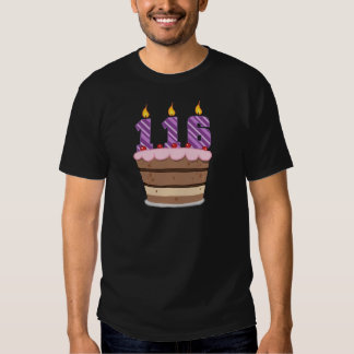 Age 116 on Birthday Cake T-shirt