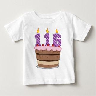 Age 116 on Birthday Cake Tshirts