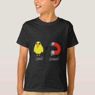 Aimant de poussin tee shirt