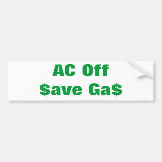 Air Condition Off Bumper Sticker