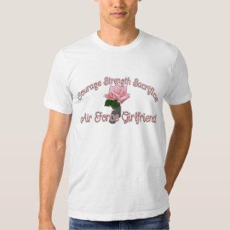 Air Force Girlfriend Courage Strength Sacrifice T-shirts