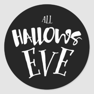 All Hallow's Eve Halloween Soirée Round Sticker
