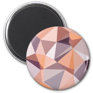 Almond Beige Abstract Low Polygon Background 2 Inch Round Magnet