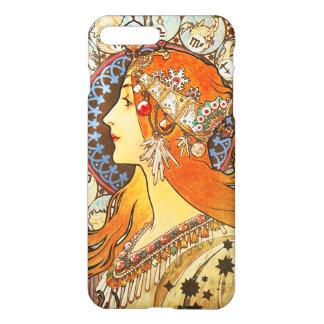 Alphonse Mucha La Plume Zodiac Art Nouveau Vintage iPhone 7 Plus Case