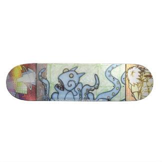 Amelia's blue monster skate board decks