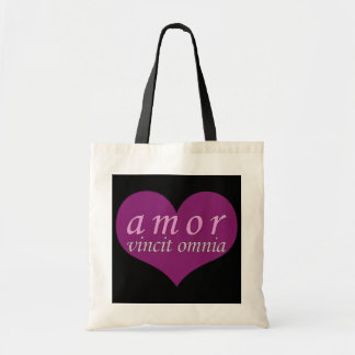 Amor Vincit Omnia Love Conquers All Valentines Day Budget Tote Bag