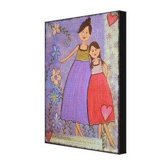 Amour et amitié - la fille de la mère 16x20 badine impressions sur toile