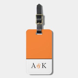 Ampersand Elegance: Orange Honeymoon Luggage Tag