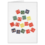 And baby makes 3 greeting card