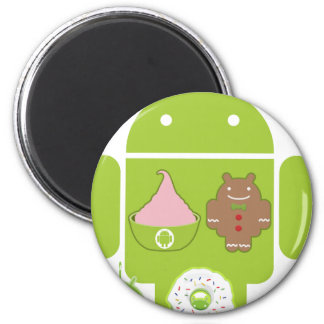 Android Versions 2 Inch Round Magnet