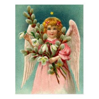 Angel With Pretty Pink Dress Postcard